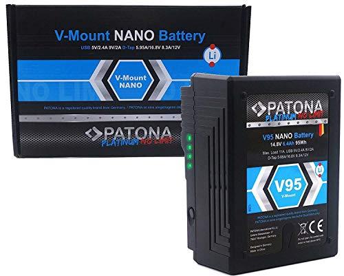 PATONA Platinum II - Nano V95 V-Mount Akku (95Wh) mit D-Tap und USB