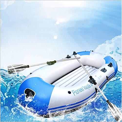 YYhkeby Conjunto de Kayak Inflable Plegable portátil de 3/4 Personas, Bote de Buceo Pesado de Doble Grueso Espesado de PVC, sede con ALU Jialele (Color : For 4 Person)