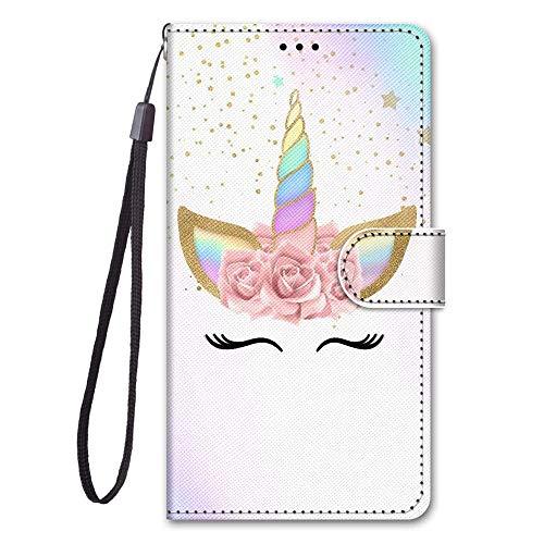 Capa para LG X Power Case capa flip de couro sintético com proteção de cartão pintado fofo compartimentos para cartão (a04)