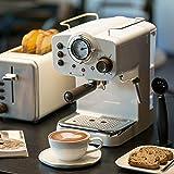 YALIXI Máquina De Café,Cafeteras Semiautomática De Uso Doméstico,Lahua Tipo De Vapor Café...