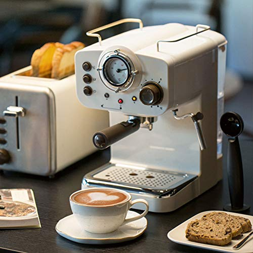 YALIXI Macchine da caffè,Macchina da caffè Semi-Automatica per Uso Domestico,Lahua Vapore Macchine da caffè Montalatte,Mini Macchina da caffè retrò,Adatto A Cucina,Ufficio,Caffetteria,Ristorante