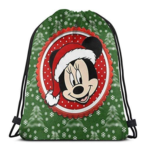 XCNGG Bolsa con cordón Bolsa con cordón Bolsa portátil Bolsa de Gimnasio Bolsa de Compras Classic Drawstring Bag-Christmas Mouse Gym Backpack Shoulder Bags Sport Storage Bag for Man Women