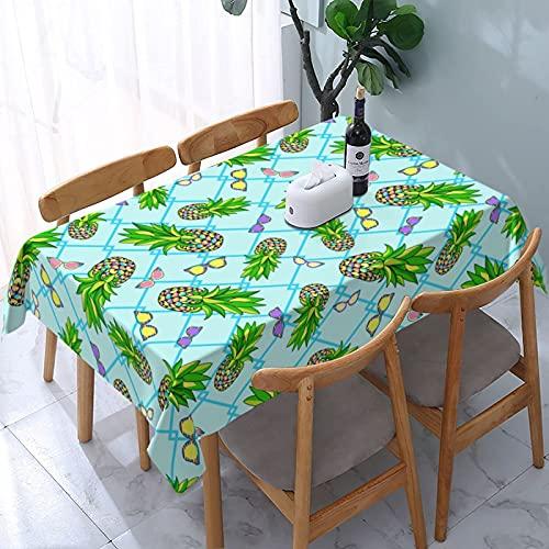 LINGF Fredeulva - Mantel Rectangular para Gafas de Sol, 54 x 72, Impermeable, Lavable, Reutilizable, para Mesa, Comedor, Cocina, Picnic, decoración del hogar
