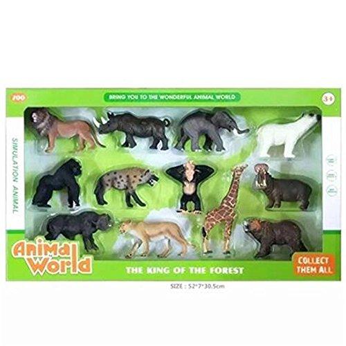 PEEF 12 Stück Schleich Tiere Farm Word Tier-Mix - Spielzeug