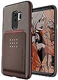 Ghostek Exec Premium Heavy Duty Wallet Case Compatible with Galaxy S9 Plus - Brown