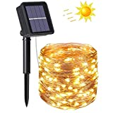 flintronic® Guirnalda de Luces Solares, 1PCS/100LED Luces Jardín (8...