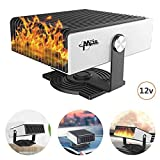 Portable Car Heater, 2 in 1 Powerful Car Heater Cooling Fan, 12V 150W Windshield Defogger Defroster Plug in Cigarette Lighter, Heating Quickly, for Vehicle Trucks Home Office Table
