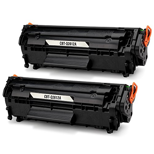 JARBO Q2612A Toner (2x Schwarz) Kompatibel für HP 12A Q2612A für HP LaserJet 1010 1012 1015 1018 1020 1022 1022n 1022nw 3015 3020 3030 3050 3052 3055 M1005 M1319 M1319f