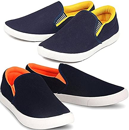 3d9aecc81a1 Fitbloom Men s Stylish Premium Combo Pack of 2 Casual Shoes Blue