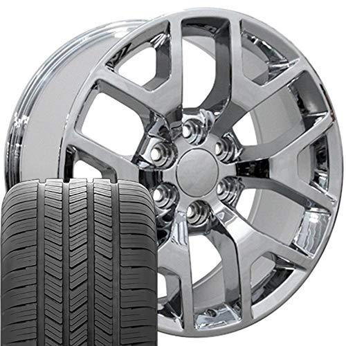OE Wheels LLC 20 Inch Fits Chevy Silverado Tahoe GMC Sierra Yukon Cadillac Escalade CV92 Chrome 20x9...