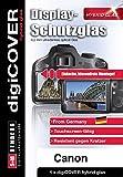 digiCOVER Carcasa híbrida de Papel de Aluminio Protector de Pantalla de Cristal para Canon EOS 700D