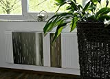 Heizkörperverkleidung 60 x 60 cm Design: Rain, Edelstahl mattiert (1 Stück) Marke: Szagato (Heizkörper-abdeckung für Heizkörper/Heizung Heizungs-verkleidung Heizkörper-verkleidung Heizungs-abdeckung)