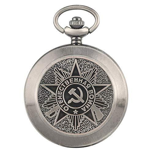 SWAOOS Retro Bronce Cuarzo Soviético CCCP Rusia Emblema Partido Comunista Insignia Reloj De Bolsillo URSS Insignias Soviéticas Reloj De Diseño De Martillo De Hoz