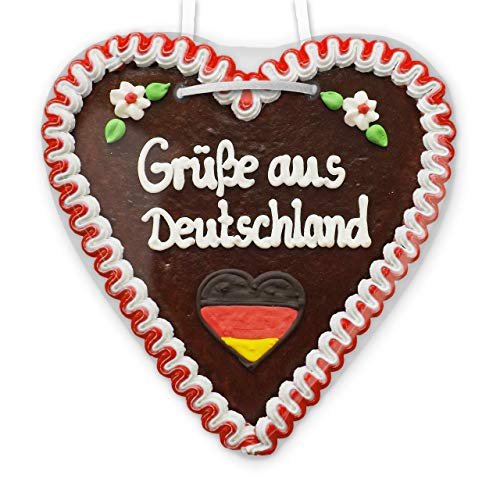 Lebkuchenherz 21cm - Grüße aus Deutschland