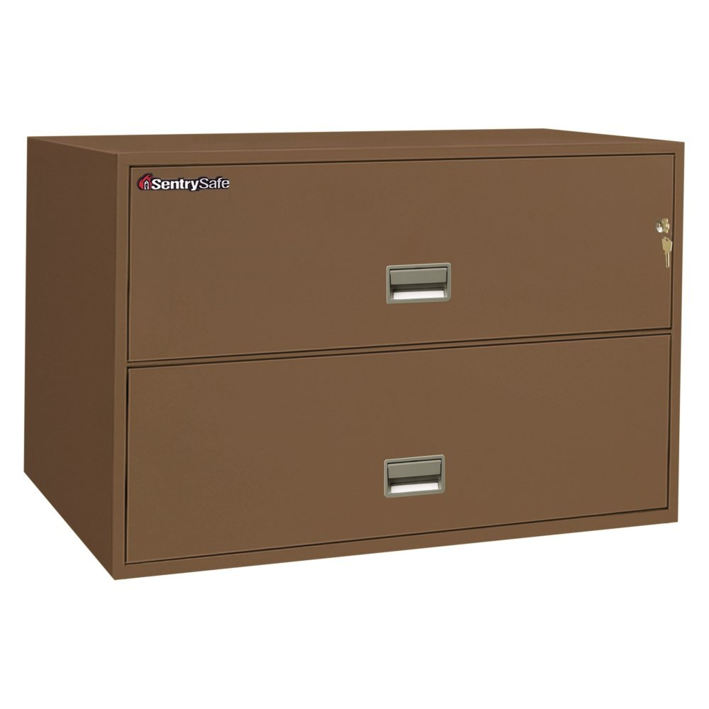 Sentrysafe L4310 Insulated 2 Drawer Lateral Filing Cabinet 43 Inch Amazon Co Uk Office Products