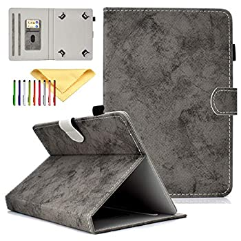 Cookk Universal 9.5-10.5 Inch Tablet Case with Card Slot Kickstand Protective Cases and Covers for iPad 9.7 Nexus 9 Galaxy Tab 9.7/9.6/10.1 Gray