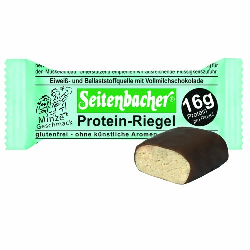 Seitenbacher Protein Riegel Minze, 4er Pack (4 x 60 g)