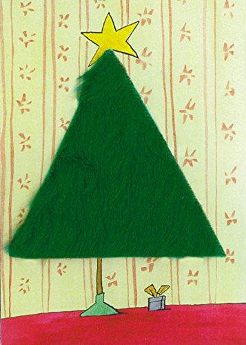 Plüschkarte / Plüschpostkarten Weihnachten A6 • 20772 ''Weihnachtsbaum'' von Inkognito • Künstler: INKOGNITO © Georg Otto Dienz • Plüschpostkarten • Weih./Neujahr