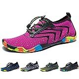 Yorgou Chaussures Aquatiques pour Homme Femme Chaussures d'eau Chaussures de Plage Chaussures de Yoga Plongée Surf Piscine Sport Aquatique