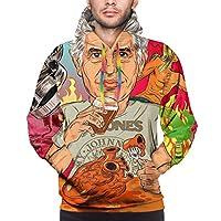 メンズプルオーバーAnthony Bourdain Hoodie Men Long Sleeve Hooded Sweatshirts Sportswear Cool Sweater,M