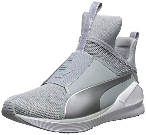 PUMA Women's Fierce core Cross-Trainer Shoe, Quarry White/Polyurethane, 6.5 M US