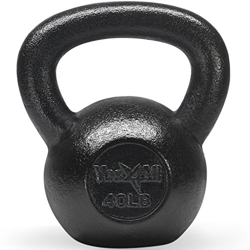 Best Deals! Yes4All Solid Cast Iron Kettlebell Weights Set – Great for Full Body Workout and Stren...