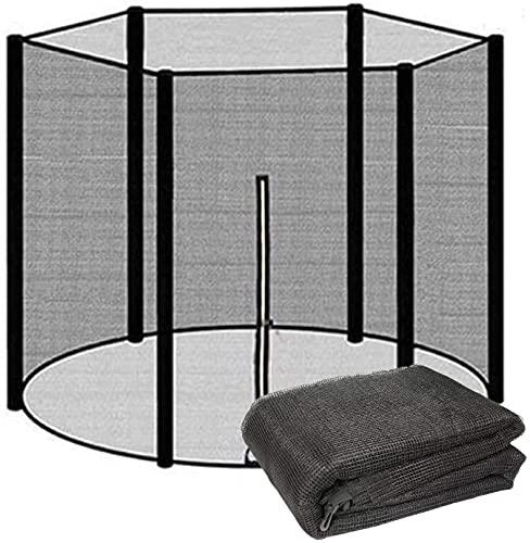 SKYWPOJU Repuestos de trampolín para trampolín de jardín,red de trampolín Ø 183/244/305/366 cm para 6/8 postes,red de seguridad de recambio de trampolín,resistente al desgarro,resistente a los rayos U