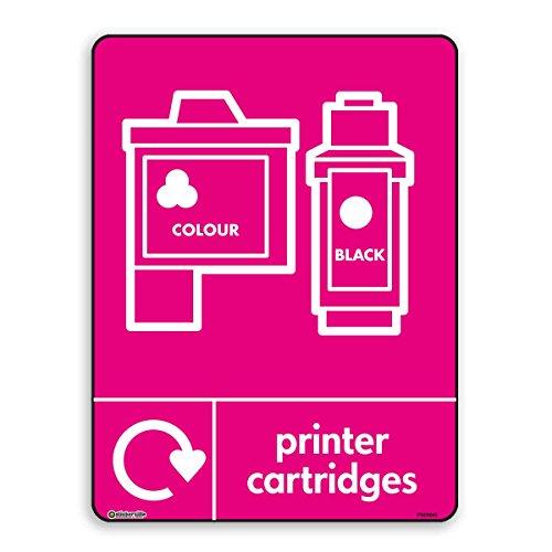 Druckerpatronen WRAP Recycling Schilder – Recycle Now Schilder – Selbstklebender Vinyl-Aufkleber (A4-210 mm x 297 mm)