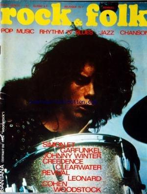 ROCK AND FOLK [No 41] du 01/06/1970 - SIMON ET GARFUNKEL - JOHNNY WINTER - CREEDENCE CLEARWATER - REVIVAL LEONARD - COHEN WOODSTOCK