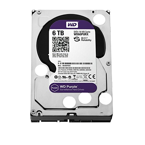 WD Purple 6TB Surveillance Hard Disk Drive - 5400 RPM Class SATA 6 Gb/s 64MB Cache 3.5 Inch - WD60PURX [Old Version]