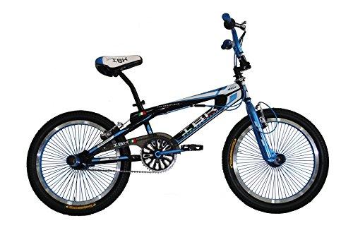 IBK Bici Bicicletta BMX Freestyle 20' MONOVELOCITA' STERZO 360° (Blu)