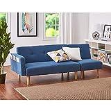 Panana Modern 2 Seater Settee Corner Sofa Bed with Foostool Fabric Love Seat