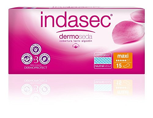 Indasec Discreet Compresa Incontinencia Maxi - 15 Unidades