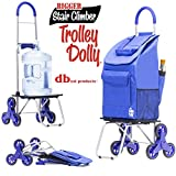 dbest products Stair Climber Bigger Trolley Dolly, Blue Shopping...