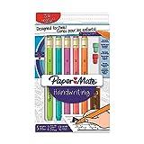 PaperMate Handwriting 5 Mechanical Pencils #2 1.3mm Lead 2 eraser refills 12 lead refills