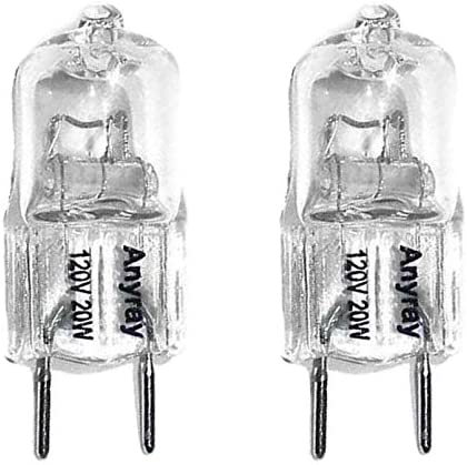 Anyray 2 -Pack 20 Gorgeous Watt G8 20W Bulb T4 Cheap mail order specialty store 20watt Light 120V Halogen
