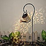 Giesskanne Mit Lichterkette Solar,Star Dusche Licht,Solar Gießkanne Fairy Garden Light,Solarlaterne für Außen, LED Solar Laterne,Garten Solarlampen,Gießkanne Mit Beleuchtung,Lichterketten für Innen