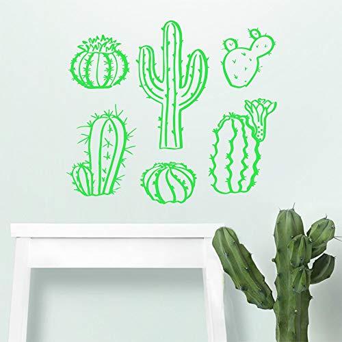 AKmene Cactus Vinilo Pared Pegatina niños habitación Dormitorio Arte decoración de la Pared Dormitorio decoración del hogar calcomanía pegatina57X65CM