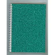 "Sticker Collecting Album 5"" x 7"" Pretty Aqua Sparkle Glitter, Re-usable Pages Won't Harm Stickers. Made in USA."