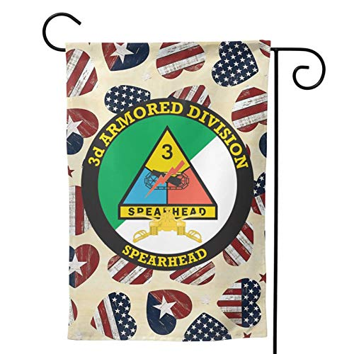 KECRDGJT 3rd Armored Division with Armor Flag Double Sided Flag Banner Holiday Decorative Outdoor Flag Flag