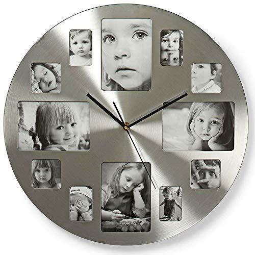 TronicXL Wanduhr mit Bilderrahmen 40cm modern für Küche Büro Wohnzimmer Uhr