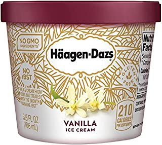 Haagen Dazs, Vanilla Ice Cream, 3.6 Oz. Cup (12 Count)