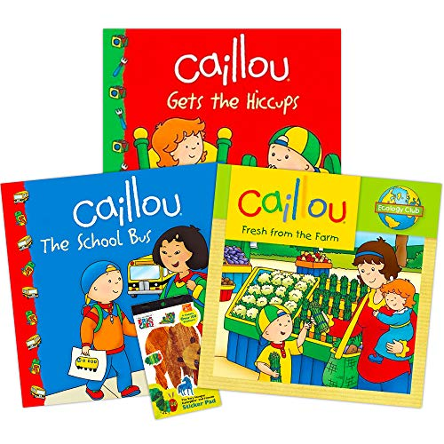 Caillou Party Supplies Caillou Books Set for Toddlers Kids -- 3 Caillou Story Books