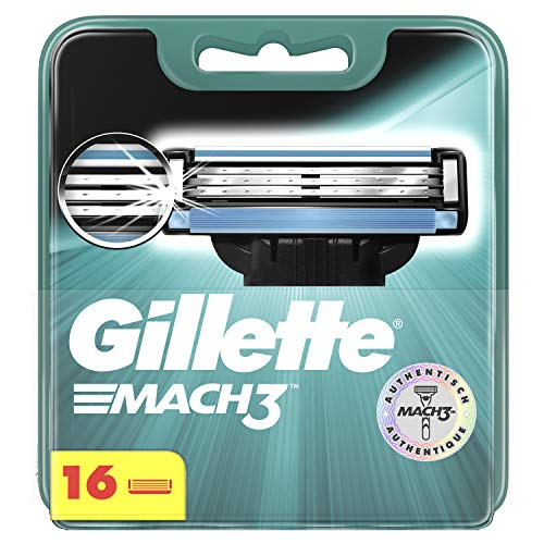 Gillette Mach3 Rasierklingen, für Männer, 16 Stück