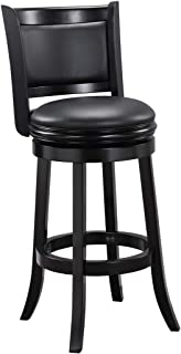 Augusta Swivel Stool 29/Black, 45829