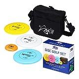 Prodigy Disc ACE Line Starter Disc Golf Set - Official Disc and Frisbee Golf Discs Set - 1x Starter Disc Golf Bag, 1x Fairway Driver, 1x Midrange Disc, 1x Putt & Approach, 1x Mini Marker Disc