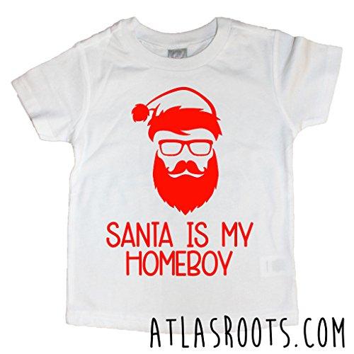 Santa is my Homeboy Toddler Christmas Shirt
