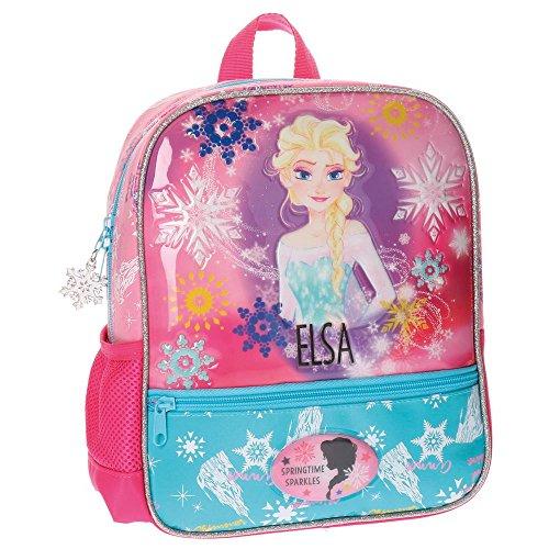 Sac à dos Frozen Elsa enfants, 28 cm, 6:44 litres, rose