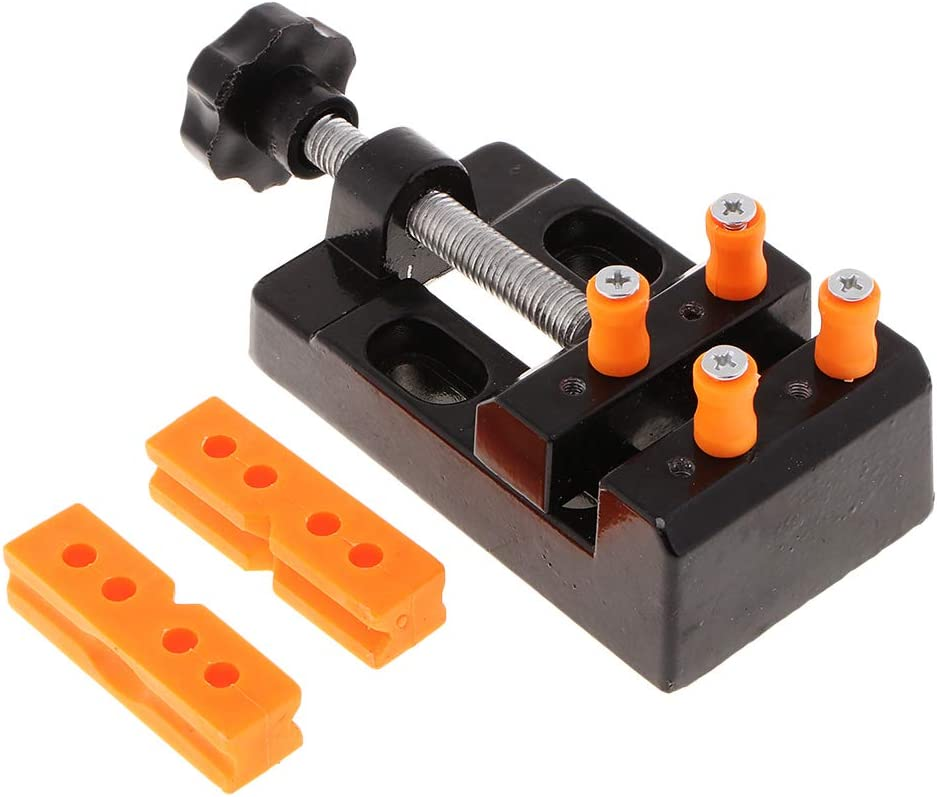 AMLESO Max 57% OFF Mini Jaw Bench Clamp Charlotte Mall Drill Vice Press Parallel Ta Opening