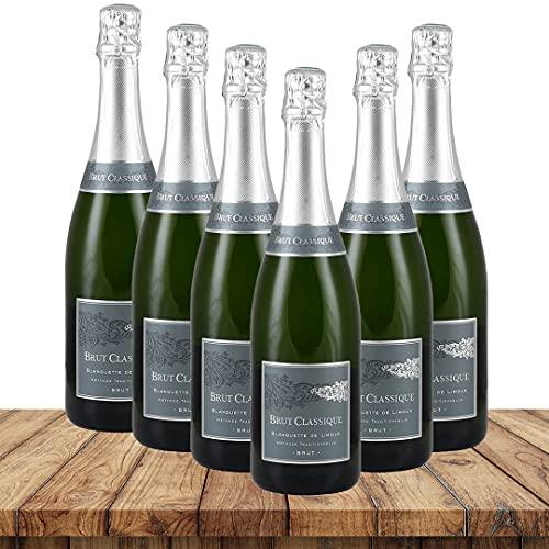 Antech Brut Classique Blanquette de Limoux | Weinpaket Weißweine (6 x 0,75 Liter) | Weißweine aus Frankreich